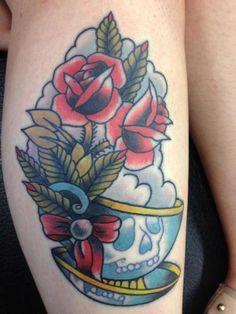teacup tattoo - Google Search
