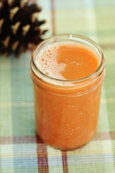 Festive Sweet Potato Vegetable Juice with: sweet potatoes, carrots, red bell pepper, celery, and ginger root