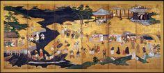 Namban Byobu: Japanese and Portuguese (sec. Japanese Sliding Doors, Premier Contact, Portugal, Japanese Furniture, Traditional Paintings, First Contact, Japan Art, Divine Feminine, 16th Century