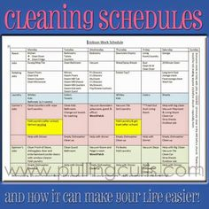 A printable schedule for your housecleaning, and tips on how I encorporate it into my day.