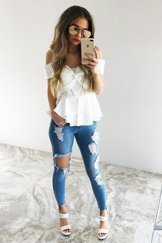 Dreaming Of You Top: White