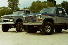 My old Ford and my buddy's Chevy Low Water bridge Glen Rose Texas 1981