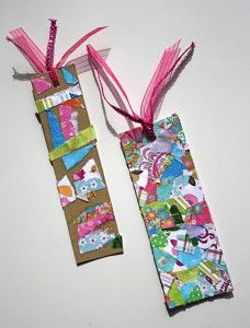 How to make a bookmark using tear art // buggy and buddy