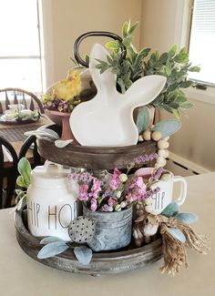 Get your home ready for Spring & Easter with these cute DIY Easter and Spring Decoration ideas. From Rae Dunn to Spring Wreaths to Easter egg decor & Mason Jars, Easter Crafts, Easter Decor, Easter Ideas, Easter Food, Easter Table, Easter Eggs, Spring Home Decor, Spring Decorations