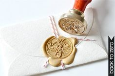 Bee Happy Gold Plated Wax Seal Stamp x 1 by BacktoZero on Etsy, $20.00
