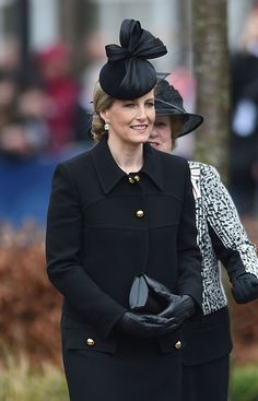 March 26, 2015 - Sophie Countess of Wessex, at Leicester Cathedral for burial of King Richard III