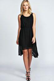 Cheryl Chiffon Dip Hem Dress