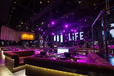 Photos: Wonho Frank Lee SLS Las Vegas has three nightclubs, with Life Nightclub taking the mega-club title. Lounge Club, Lounge Party, Bar Lounge, Nightclub Design, Bar Interior, Restaurant Interior Design, Late Night Movies, Bistro Design, Party