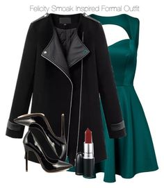 Arrow - Felicity Smoak Inspired Formal Outfit by staystronng on Polyvore featuring polyvore fashion style Oneness Chicnova Fashion Shoe Republic LA MAC Cosmetics Arrow formal felicitysmoak