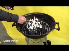 How to light Lumpwood charcoal with lighting gel