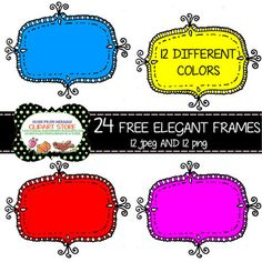 Uploaded today and ready to see how you follow my store! 24 FREE Elegant Frames for Personal and commercial Use