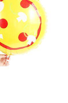 DIY Pizza Balloons