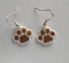 Boucles d'oreilles perles Pawprint