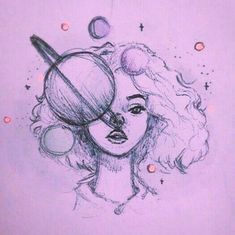 Fantasting Drawing Hairstyles For Characters Ideas. Amazing Drawing Hairstyles For Characters Ideas. Pencil Art Drawings, Art Drawings Sketches, Cute Drawings, Indie Drawings, Fantasy Drawings, Cute People Drawings, Pencil Drawings For Beginners, Trippy Drawings, Space Drawings
