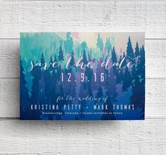 Mountain Wedding Save the Date Printable  Purchase the digital file of this save the date design (with your wording) and put together DIY save