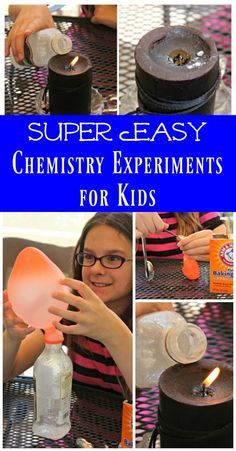 Easy Science Experiments for Kids Chemistry for elementary & middle school homeschool science Chemistry Experiments For Kids, Science Activities For Kids, Preschool Science, Elementary Science, Science Lessons, Science Education, Teaching Science, Science Chemistry, Physical Science