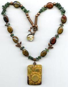 Gobnait Sunflower Necklace - PatriArts Gallery - 1