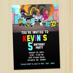 Teen Titans Go Birthday Invitation - Custom, Printable, Invitation | partytimedecor - Digital Art  on ArtFire