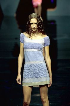 Iceberg | Spring 2000 Ready-to-Wear | 56 Blue short sleeve mini dress