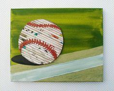 Baseball - boy's room or nursery wall art