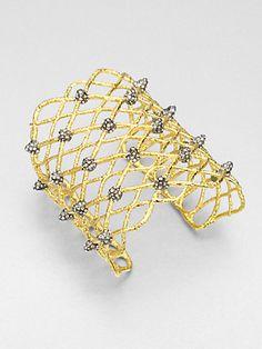 Alexis Bittar - Wide Woven Cuff Bracelet - Saks.com