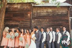 Love the bridesmaid dresses and giant bouquets of baby's breathe