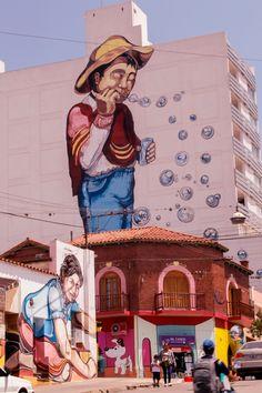 La juguetería- Mural Gigante  entre calles Senador Pérez e Independencia-Jujuy