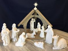 12pc Vintage White Nativity, Ceramic Mary, Joseph, Shepherd Boy, 3 Wise Men, Donkey & Baby Jesus, Avon Nativity Collectibles Xmas Decoration by ReTHINKinIt on Etsy