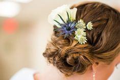 Annie, July 14, 2018 - Makeup and Hair by Alina Karaman Bridal hair with real flowers bridal updo DC/VA/MD