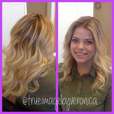 Blonde balayombre ombre sombre balayage on my client! By Veronica Rosenwinkel at Gaston's Salon in New Braunfels, TX