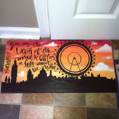I'm going to do a similar painting for my son of our favorite rollercoaster with an inspirational quote.