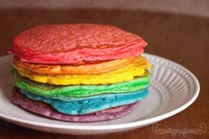 rainbow pancakes; gonna do this one day!