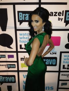 Michael Costello Couture worn by Lilly Ghalichi