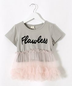 Loving this Gray & Pink 'Flawless' Dress - Toddler & Girls on #zulily! #zulilyfinds