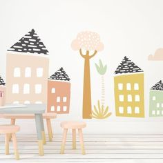 May 10, 2020 - Feb 26, 2020 - Large Jungle Village- Die Cut Decal - WALL DECAL
