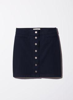Wilfred Free Karmen Skirt $85 - Twill fabric, Admiral