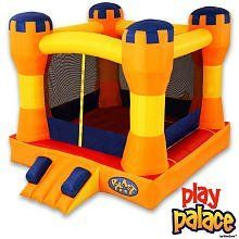 Blast Zone Play Palace Inflatable Bounce House by Blast Zone by Blast Zone. $379.99. From the Manufacturer                The Play Palace Bounce House is a Cool Bounce Castle. This 4 kid Bouncer is built to last, and sets up fast. In just a couple minutes kids will be bouncing themselves safely within the netting-enclosed palace. While the kids burn off energy, parents can relax, knowing their kids are safe within the sturdy play castle.   Why do Kids Love the Pl...