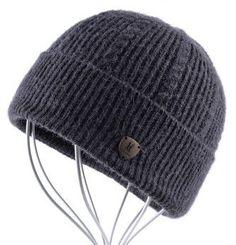Winter Beanie Wool Hat Knitted Bonnet Cap Thicker Fringe Mens Beanies