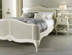 Absolutely stunning bed, with intricate carved detail. The rattan is finished in a warm Ivory and the bed is constructed in a solid Birch frame. Looks amazing when paired up with the Ivory French Inspired Bedside Chest. Designed to last a life time, the bed is available to purchase online, in store, over the phone or by email.