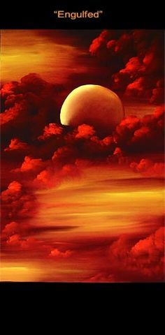Abstract art by Osnat Tzadok blazing sunset.