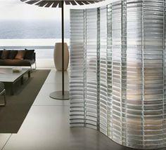 biombo de vidrio