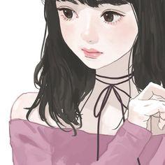 Kawaii Anime Girl, Anime Art Girl, Aesthetic Art, Aesthetic Anime, Korean Art, Chica Anime Manga, Digital Art Girl, Beautiful Anime Girl, Cartoon Art