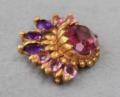 Reinad Brooch 2 Tone Purple Rhinestones Open Back Rare Vintage - June 01 2019 at Rhinestone Jewelry, Vintage Rhinestone, Vintage Brooches, Purple Jewelry, Wire Jewelry, Jewelry Shop, Jewelry Design, Designer Jewelry, Vintage Costume Jewelry