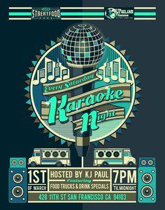 karaoke night poster - Google Search