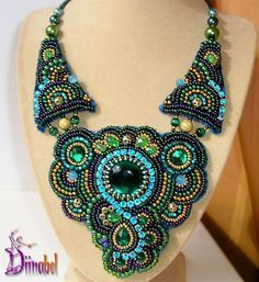 bead embroidered jewellery