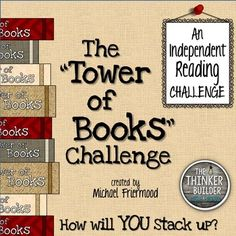 "Infuse new life into students' independent reading, at school or at home, with the ""Tower of Books"" Challenge! Perfect for a summer reading challenge or an alternative to the stuck-in-a-rut reading log assignment.   The challenge is built on two core ideas: to encourage children to read some different genres of books and authors they may not try otherwise, and to give students a fresh and motivating way to keep track of their reading."