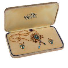Phyllis Originals Necklace Brooch Earrings by VintageMeetModern