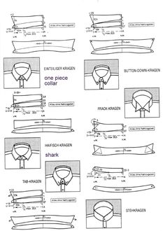 Sewing Men Clothes Shirt Cutting from the Einheitssystem - The Cutter and Tailor - custom design shirts, mens colorful shirts, pink shirts *ad - Techniques Couture, Sewing Techniques, Pattern Cutting, Pattern Making, Sewing Tutorials, Sewing Hacks, Clothing Patterns, Sewing Patterns, Shirt Collar Pattern