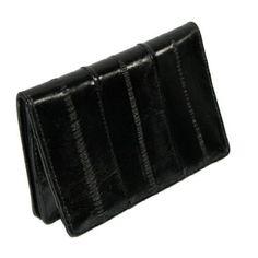 Eel Skin Credit/Business Card Case (Black) Masters. $10.50