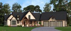 Plan 12276JL: Rustic Ranch With Bonus Upstairs Spaces
